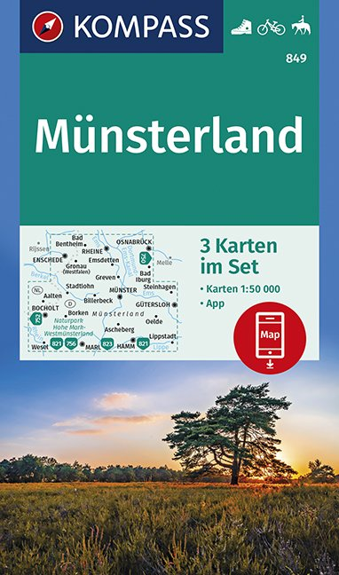 KOMPASS Wanderkarte Münsterland